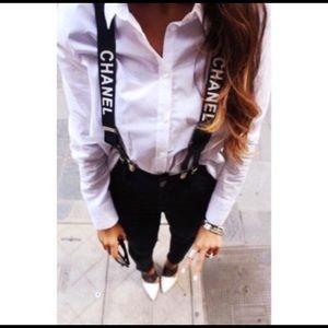 Chanel vintage suspenders style